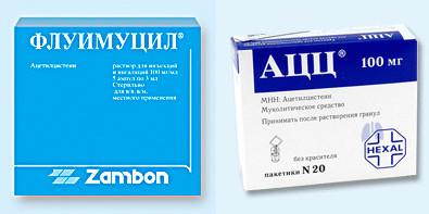 Флуимуцил и АЦЦ - сравнение препаратов