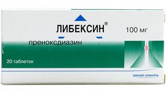 Либексин (преноксдиазин) - инструкция применения
