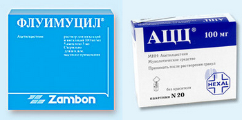 Ацетилцистеин (АЦЦ, Флуимуцил)