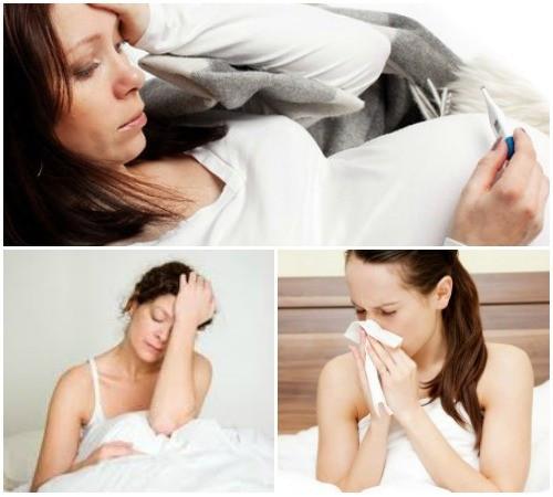 Основные проявления простуды у беременной женщины